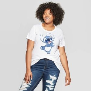 Disney Stitch Watercolor Tee